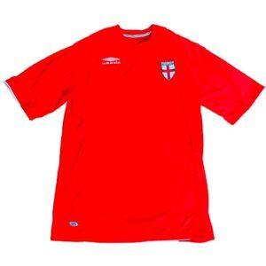 Umbro Red England Soccer/Football Short Sleeve